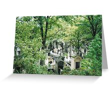 Pere Lachaise cemetary, Paris Greeting Card