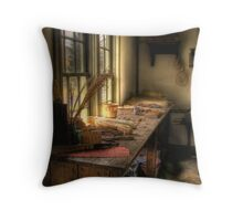 THE OLD WORK TABLE Throw Pillow