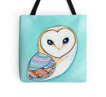 Tribal Pattern Barn Owl Tote Bag