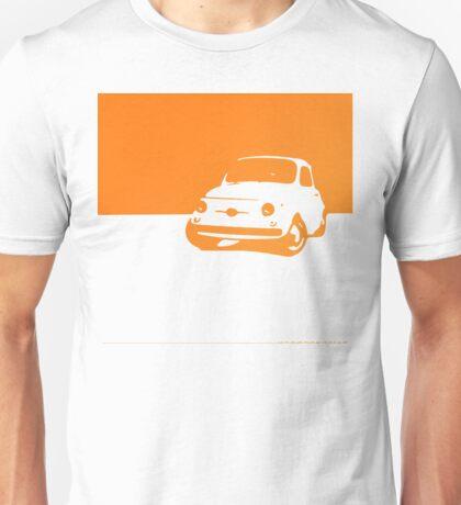 Fiat 500, 1959 - Orange on white Unisex T-Shirt