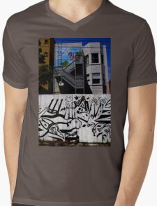 The Art Of The City Mens V-Neck T-Shirt