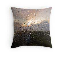 catching atlantic rain Throw Pillow