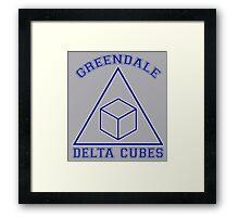 Greendale Delta Cubes Frat Framed Print