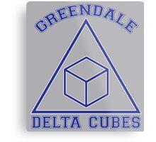 Greendale Delta Cubes Frat Metal Print