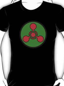 Chemical weapon symbol. Hazard sign. T-Shirt