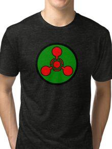 Chemical weapon symbol. Hazard sign. Tri-blend T-Shirt