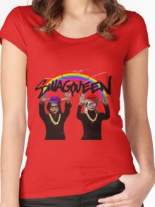 SwagQueen over the Rainbow Women's Fitted Scoop T-Shirt