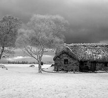 Leanach Cottage, Culloden Moor by Mark Ozanne