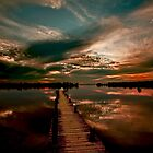 Mirrored Sunset - Walkway To Heaven by photosan