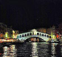 Ponte di Rialto di notte by andreisky
