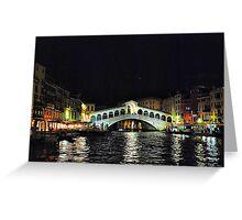 Ponte di Rialto di notte Greeting Card