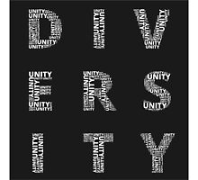 Unity in Diversity Black and White poster by OneWorldDesigns