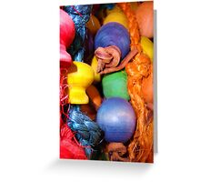 Parrot Toy Greeting Card