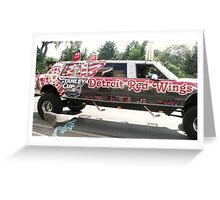 Red Wings Limo Greeting Card