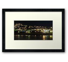 Pismo Beach night Framed Print