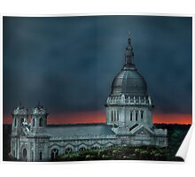 Minneapolis Basilica HDR sunset Poster
