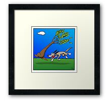Chasing Tree Framed Print
