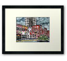 Nashville Tennessee country music art Framed Print