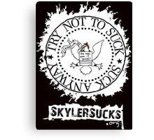 SkylerSucks.org Canvas Print