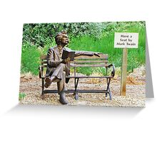 Twain Greeting Card