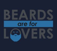 Beards Are For Lovers (Blue) Kids Clothes