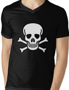 Old Skull Mens V-Neck T-Shirt