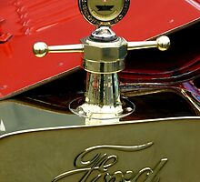 "A 1915 Model T ~ ""Motometer""  which is a ~ Hood Ornament ~ Radiator Cap ~Temperature Gauge~ by Elaine Bawden"