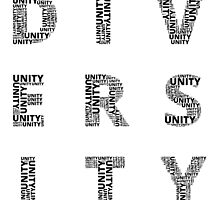 Customisable Unity in Diversity poster by OneWorldDesigns