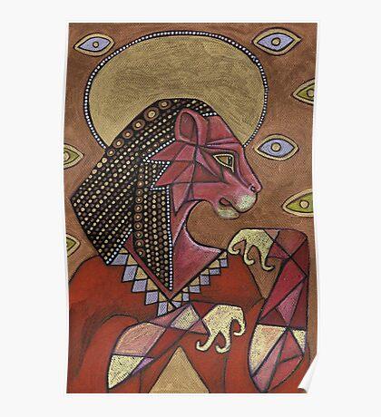 Sekhmet of the Scorching Sun Poster