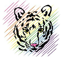 Rainbow Tiger Photographic Print