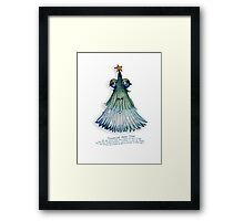 Little Profiles Troubled Xmas Tree Framed Print