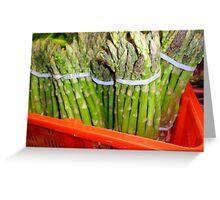 Asparagus Greens Greeting Card