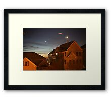 October Night Sky at Salt Pond Framed Print