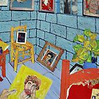 Vincent's Cell at St Remy ( Homage to Vincent ) by Richard  Tuvey