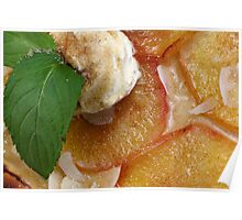 Flammkuchen Avec des Pommes Poster