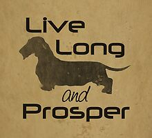 Live Long and Prosper Dachshund, Wire, Wirehair, Coat, Hair, Trekkie, Star Trek, Dog, Silhouette  by CanisPicta