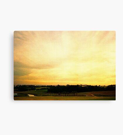 one golden sky Canvas Print