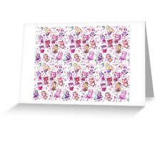 Animal Crossing Pattern Greeting Card