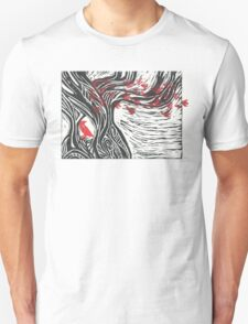 Wisdom of Trees - Red Raven Unisex T-Shirt