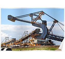 Coal Stacker/Reclaimer - Kooragang Island, Newcastle NSW Poster