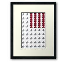 Diamond Stars and Ruby Stripes Flag Framed Print