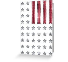Diamond Stars and Ruby Stripes Flag Greeting Card