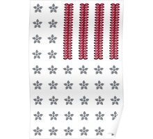 Diamond Stars and Ruby Stripes Flag Poster