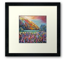 Mountain Lupins Framed Print