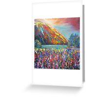 Mountain Lupins Greeting Card