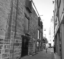 First street in The Rocks, Sydney. by daphadills