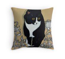 Tuxedo Cat... Throw Pillow