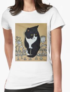 Tuxedo Cat... Womens Fitted T-Shirt