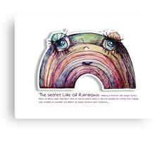 Little Profiles The Secret Life of Rainbows Canvas Print