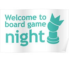 Welcome to board game night Poster